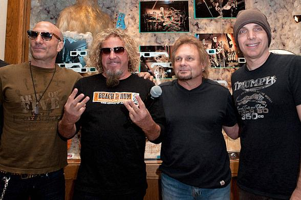Chickenfoot: Kenny Aronoff, Sammy Hagar, Michael Anthony and Joe Satriani