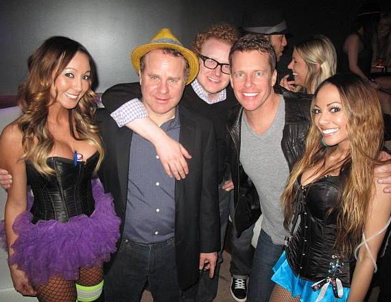 """Steven Marmalstein (Head Writer), Brad Wollack and Chris Franjola from """"Chelsea Lately"""" and """"After Lately,"""" pictured with RPM servers"""