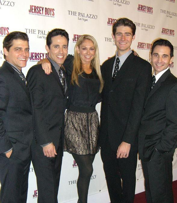 Deven May, Jeff Leibow, Kym Johnson, Drew Gehling and Travis Cloer