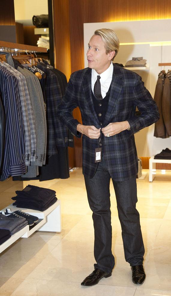 Carson Kressley shopping at Canali at The Palazzo