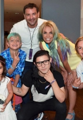 "Skrillex and Jeremy Scott visit Britney Spears, her two sons, and brother Bryan at ""Britney: Piece of Me"""