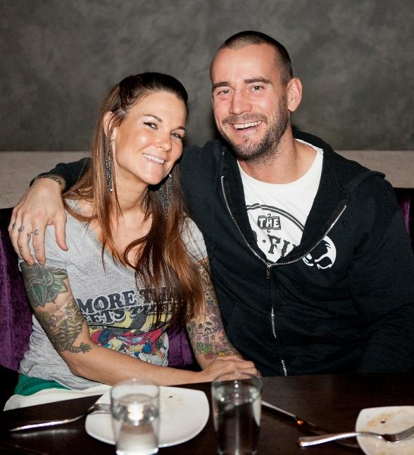 WWE Superstar CM Punk with Girlfriend Lita at HERAEA inside Palms Casino Resort in Las Vegas