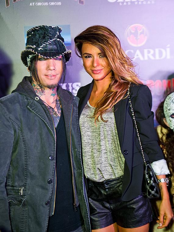Guns N' Roses guitarist DJ Ashba at Fright Dome in Las Vegas