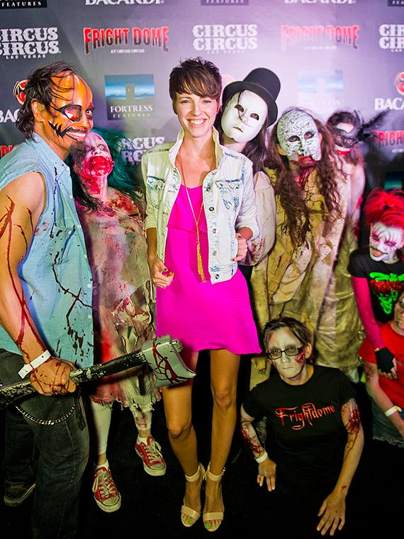 Emma Fitzpatrick, star of the The Collector and The Collection at Fright Dome in Las Vegas