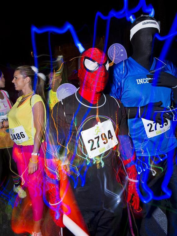 2013 Glow Run at Downtown Las Vegas