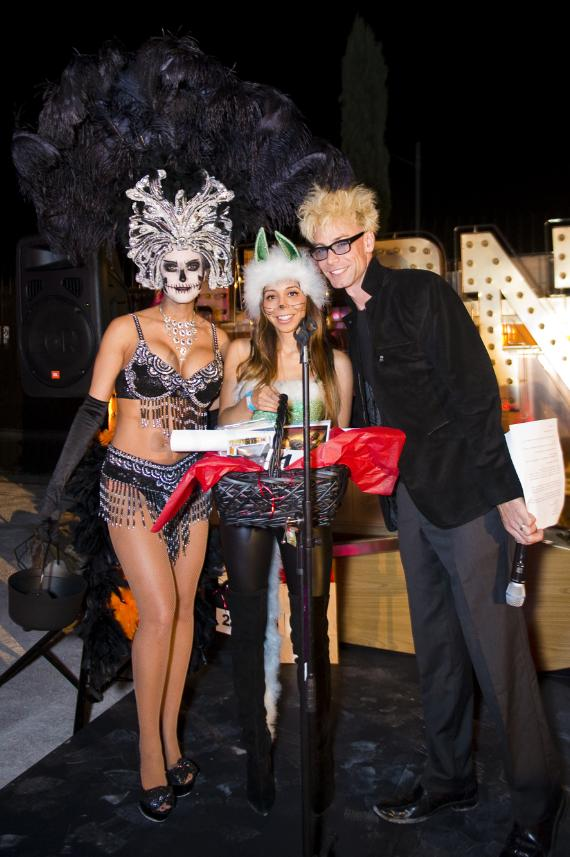 Host Murray SawChuck with guests at the Neon Museum's Boneyard Bash