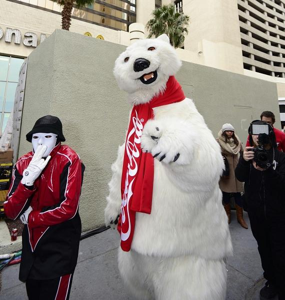 Jabbawockeez with giant polar bear