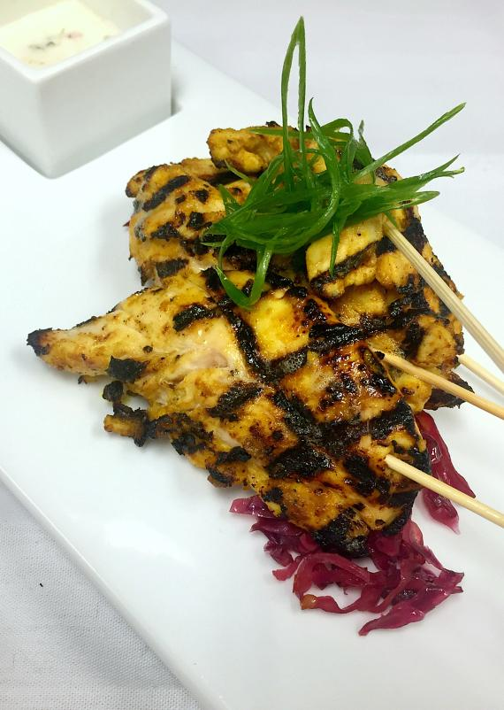 Coconut Curry Chicken Skewers
