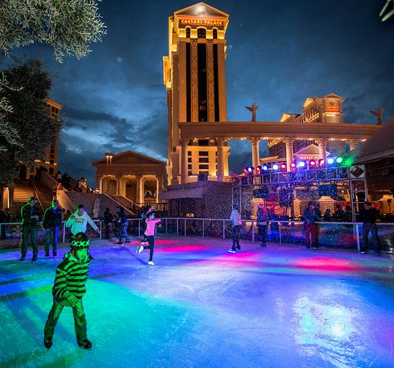 Caesars Chalet Holiday Ice Rink and Mountaintop Lodge Experience