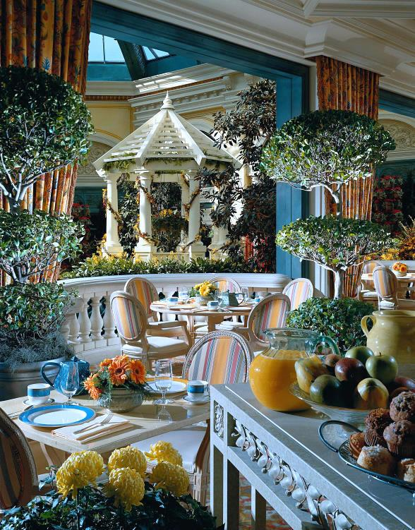 Cafe Bellagio - Interior with Conservatory view