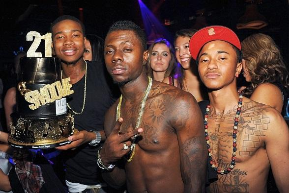 Cali Swag District with cake at Chateau Nightclub