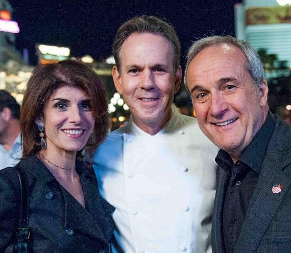 Camille and Larry Ruvo with Chef Thomas Keller at UNLVino's Bubble-Licious