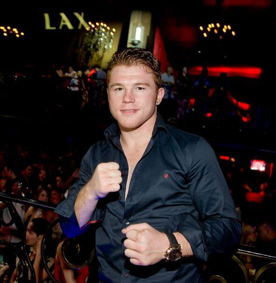 Saul 'Canelo' Alvarez at LAX Nightclub