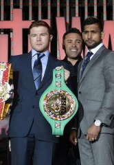 Canelo Alvarez vs. Amir Khan Press Conference Quotes and Photos