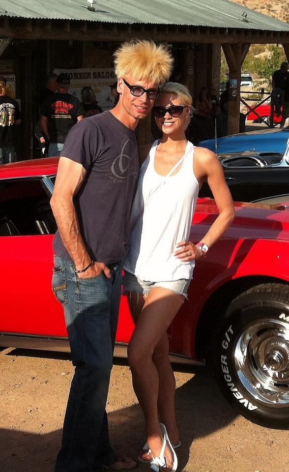 Murray and Chloe at the 100 Year Centennial Car Show