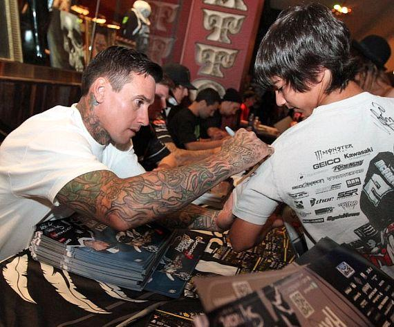 Carey Hart at Hart & Huntington Tattoo Company