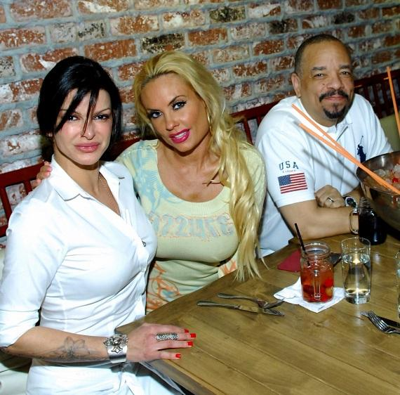 Carla Pellegrino, Coco Austin and Ice T at Meatball Spot