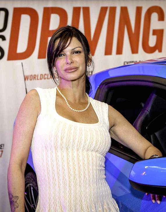 Carla Pellegrino at the American Muscle Car Driving Experience Launch Party