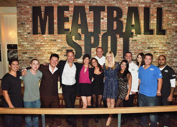 Chef Carla Pellegrino with Meatball Spot team