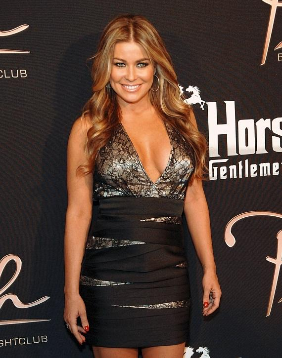 Carmen Electra poses on the red carpet at Crazy Horse III