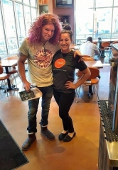 Carrot Top dines at MTO Cafe in Downtown Summerlin