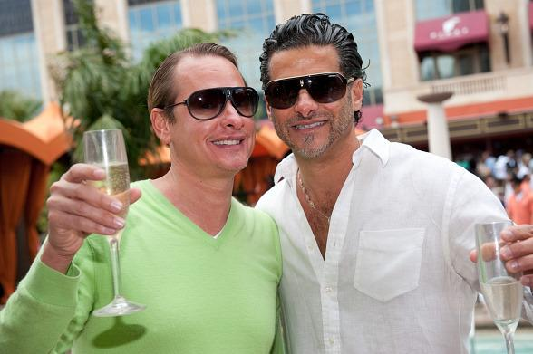 Carson Kressley and friend at Carrera Escape at TAO Beach