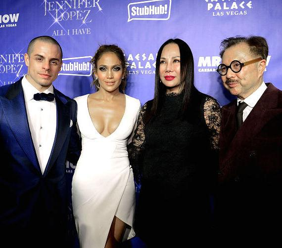 Casper Smart, Jennifer Lopez, Eva Chow, Michael Chow at MR CHOW Grand Opening