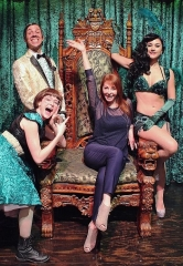 "Cassandra Peterson, ""Elvira,"" Attends ABSINTHE at Caesars Palace"