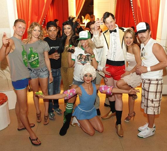 "Angel Porrino and Absinthe cast at Encore Beach Club's ""Dip and Dance"""