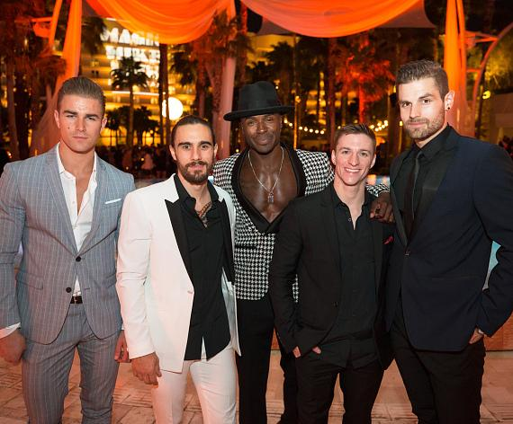 Cast Members Anton Engel, Ryan Pires, Manwe Sauls-Addison, Ryan Carlson and David Terry Celebrate Opening Night of MAGIC MIKE LIVE LAS VEGAS at Hard Rock Hotel & Casino