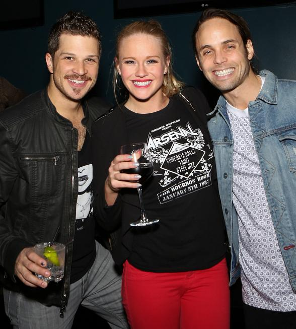 Cast members Mark Shunock, Carrie St. Louis, Justin Mortelliti