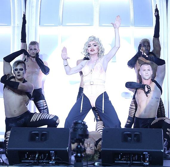 Cast of Frank Marino's Divas perform at Black & White Party