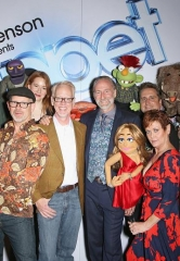 "Brian Henson, Murray SawChuck, Jenni Lee, Jeff Civillico, Chadwick Johnson, Cast of BAZ celebrate opening of ""Puppet Up! – Uncensored"" at The Venetian"