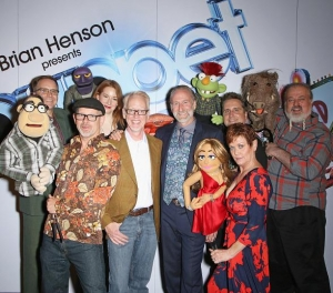 Brian Henson, Murray SawChuck, Jenni Lee, Jeff Civillico, Chadwick Johnson, Cast of BAZ celebrate opening of