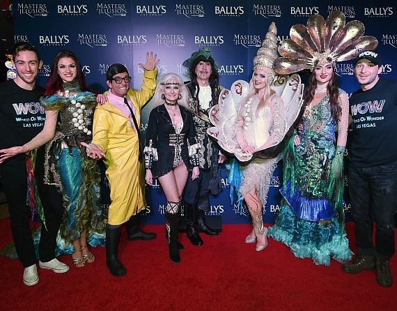 Cast of WOW-World of Wonder on the red carpet at opening night of Masters of Illusion at Bally's Las Vegas