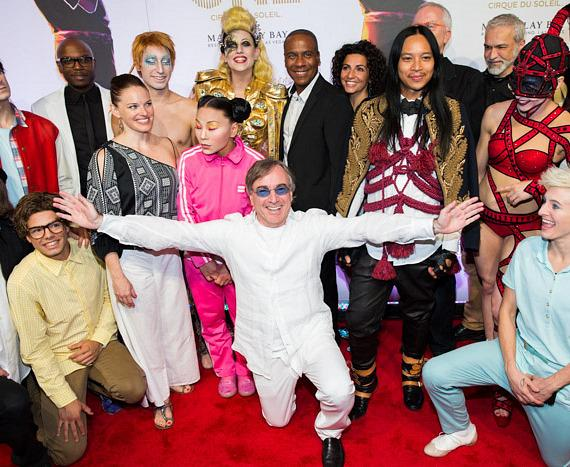 Cast of Michael Jackson ONE with Danielle Lamarre, Pres and CEO Cirque du Soleil
