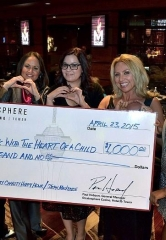 Stratosphere Casino Donates $1,000 to Children's Heart Foundation at Celebrity Happy Hour Event