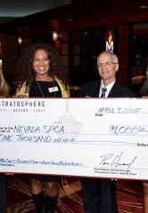 Stratosphere Casino, Hotel & Tower Donates Another $1,000 to Local Nonprofit at Celebrity Happy Hour