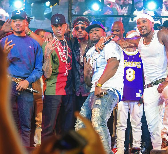 50 Cent, Trey Songz, Jeezy, Chance the Rapper and Meek Mill Kick Off Fight Weekend at Drai's Nightclub Las Vegas