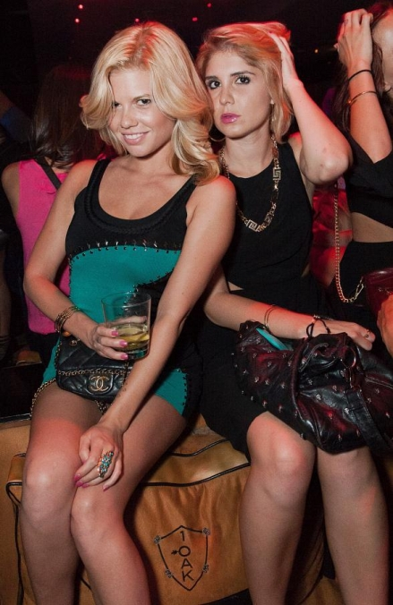 Chanel West Coast and Superstar Singer Tyga Party at 1 OAK Nightclub at The Mirage