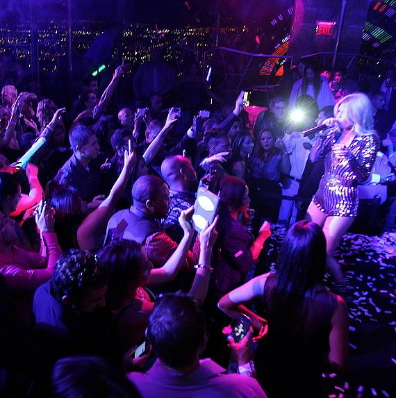 Chanel West Coast jams out on stage during performance at Moon Nightclub