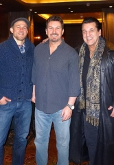"""Sons of Anarchy"" Stars Charlie Hunnam, Chuck  Zito and Christopher Reed dine at Andiamo Italian Steakhouse at the D Las Vegas"
