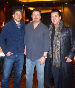 """""""Sons of Anarchy"""" Stars Charlie Hunnam, Chuck Zito and Christopher Reed dine at Andiamo Italian Steakhouse at the D Las Vegas"""