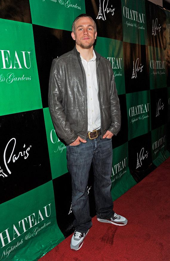 Charlie Hunnam arrives at Chateau Nightclub & Gardens at Paris Las Vegas
