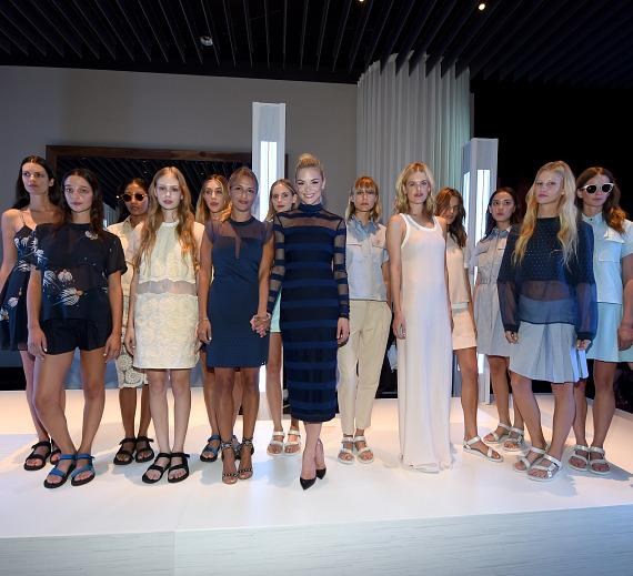 Charlotte Ronson presents looks from her SpringSummer 2015 collection with an exclusive runway show at Delano Las Vegas' grand opening