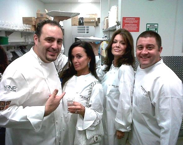 Chef Barry S. Dakake, Kyle Richards, Lisa Vanderpump-Todd and Chef Geno Bernardo