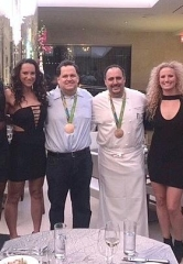 USA Women's Water Polo Team Dines at N9NE Steakhouse at Palms Casino Resort