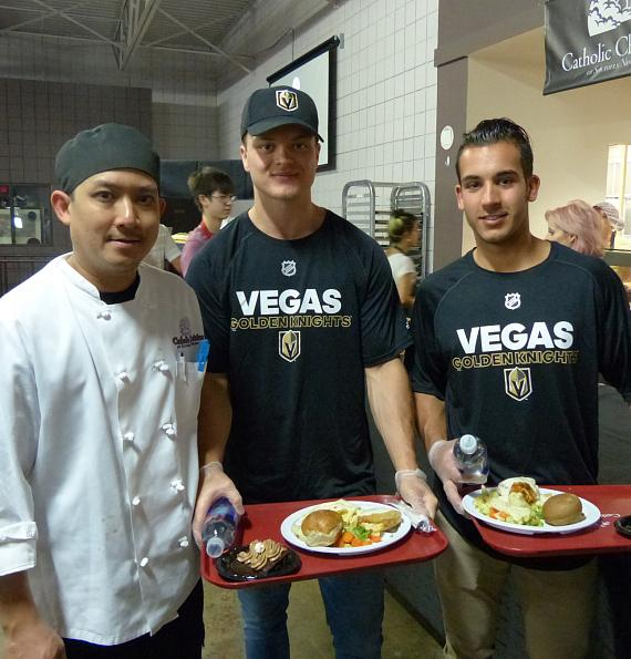 Vegas Golden Knights Prospects and Staff Serve Special Community Meal at Catholic Charities