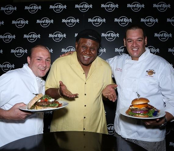 Chef Michael Sullivan, George Wallace and Chef Aaron Moran