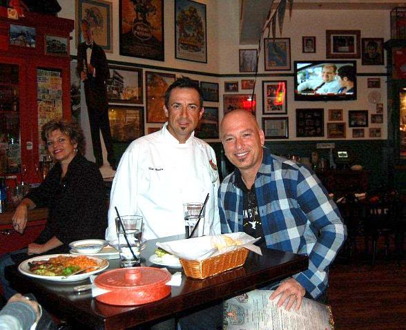 Chef Noe Alcala and Howie Mandel at Hussong's